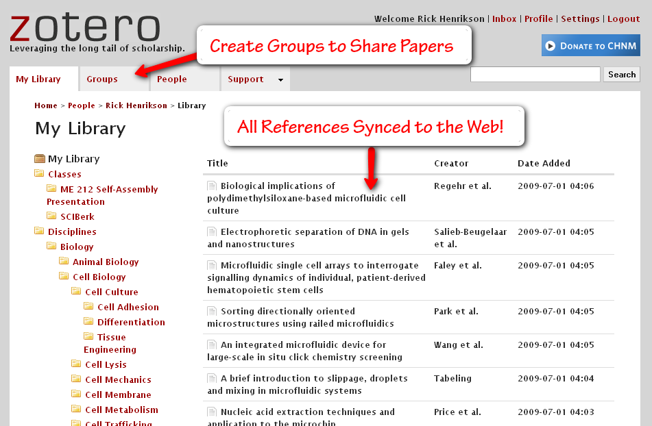 zotero-web-interface